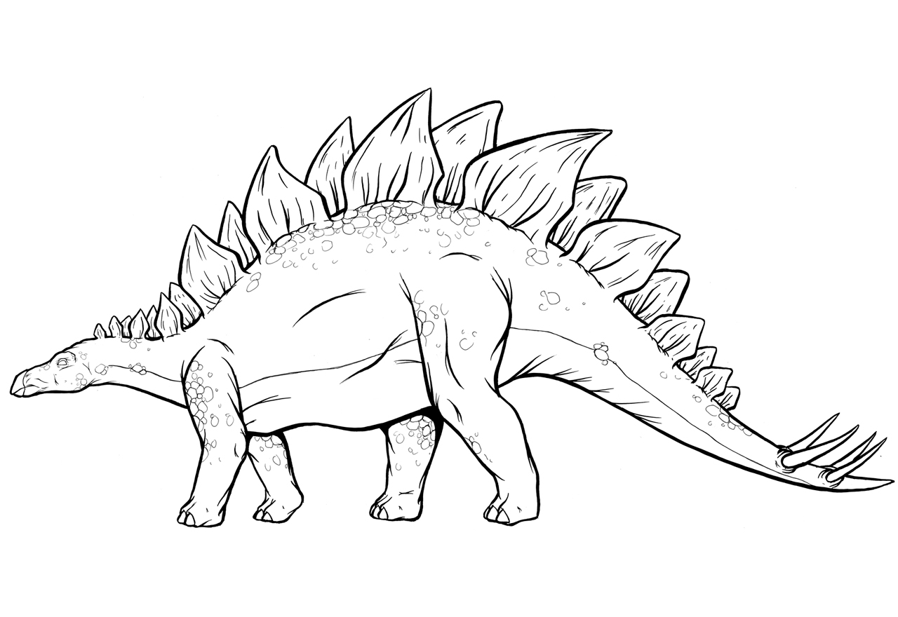 stegosaurus coloring pages